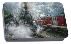 Portable Battery Charger featuring the photograph Steam Train by Hanny Heim