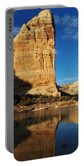 Steamboat Rock In Dinosaur National Monument Portable Battery Charger