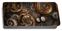 Steampunk - Abstract - Time Is Complicated Portable Battery Charger