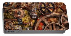Steampunk - Gears - Inner Workings Portable Battery Charger