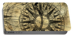 Steampunk Gold Compass Portable Battery Charger