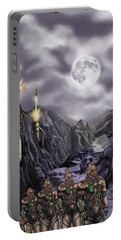 Steampunk Moon Invasion Portable Battery Charger
