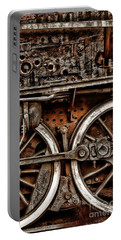 Steampunk- Wheels Locomotive Portable Battery Charger