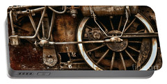 Steampunk- Wheels Of Vintage Steam Train Portable Battery Charger