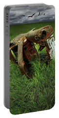 Steel Auto Carcass With Vultures Portable Battery Charger