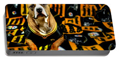 Pitbull Rescue Dog Football Fanatic Portable Battery Charger