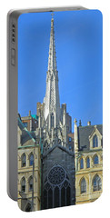 Steeple Of Grace Episcopal Church Nyc Portable Battery Charger