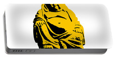 Stencil Buddha Yellow Portable Battery Charger