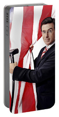 Portable Battery Charger featuring the painting Stephen Colbert Artwork by Sheraz A