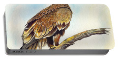 Portable Battery Charger featuring the painting Steppe Eagle by Anthony Mwangi