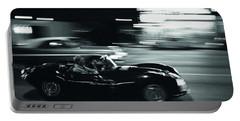 Steve Mcqueen Jaguar Xk-ss On Sunset Blvd Portable Battery Charger