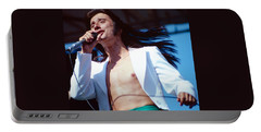 Steve Perry Of Journey At Day On The Green Portable Battery Charger