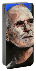 Portable Battery Charger featuring the painting Steven Paul Jobs by Gordon Dean II