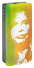 Steven Tyler Canvas Portable Battery Charger by Dan Sproul
