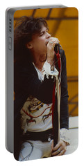 Steven Tyler Of Aerosmith At Monsters Of Rock In Oakland Ca Portable Battery Charger