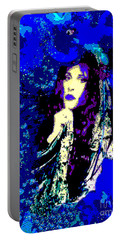 Stevie Nicks In Blue Portable Battery Charger by Alys Caviness-Gober