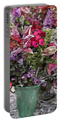 Portable Battery Charger featuring the digital art Still Life Floral by David Lane