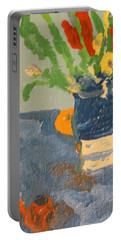 Still Life Flowers Portable Battery Charger
