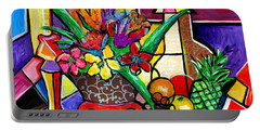 Still Life Fruit And Floral Portable Battery Charger