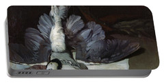 Still-life Heron With Spread Wings, 1867 Oil On Canvas Portable Battery Charger