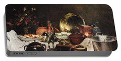 Still Life Oil On Canvas Portable Battery Charger