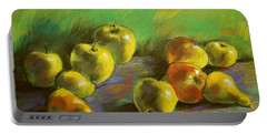 Still Life With Apples And Pears Portable Battery Charger