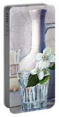 Still Life With Jasmine Portable Battery Charger