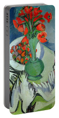 Still Life With Seagulls Poppies And Strawberries Portable Battery Charger by Ernst Ludwig Kirchner