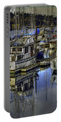 Portable Battery Charger featuring the photograph Still Water Masts by Jean OKeeffe Macro Abundance Art