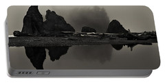 Stillness At Ruby Beach Portable Battery Charger