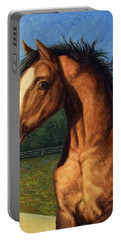 Portable Battery Charger featuring the painting Stir Crazy by James W Johnson