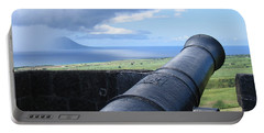 Portable Battery Charger featuring the photograph St.kitts Nevis - On Guard by HEVi FineArt