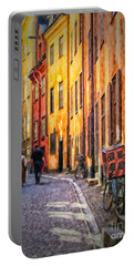 Stockholm Gamla Stan Painting Portable Battery Charger
