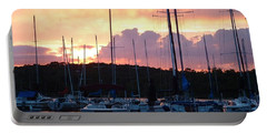 Portable Battery Charger featuring the photograph Stockton Sunset by Deena Stoddard