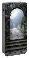 Stone Arch In The Fog Portable Battery Charger