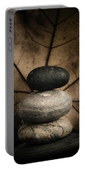 Stone Cairns II Portable Battery Charger by Marco Oliveira