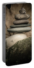 Stone Cairns Iv Portable Battery Charger by Marco Oliveira