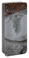Portable Battery Charger featuring the photograph Stone Pool Angel by Brian Boyle