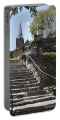 Stone Steps And Saint Peters Church At Harpers Ferry Portable Battery Charger