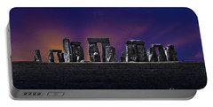 Portable Battery Charger featuring the photograph Stonehenge Looking Moody by Terri Waters