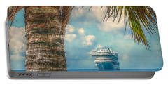 Stopover In Paradise Portable Battery Charger by Hanny Heim