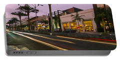 Stores On The Roadside, Rodeo Drive Portable Battery Charger by Panoramic Images