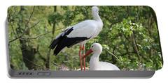 Storks Nesting Portable Battery Charger