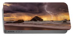 Storm At Face Rock Portable Battery Charger