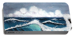Storm At Sea Portable Battery Charger