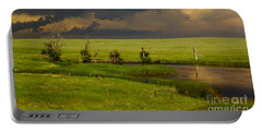 Storm Crossing Prairie 1 Portable Battery Charger by Robert Frederick