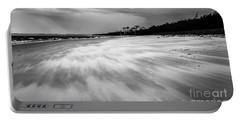 Storm Front On The Beach Portable Battery Charger
