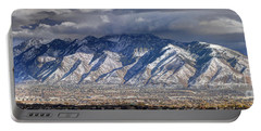 Storm Front Passes Over The Wasatch Mountains And Salt Lake Valley - Utah Portable Battery Charger