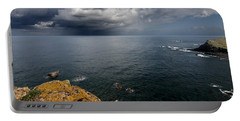 A Mediterranean Sea View From Sa Mesquida In Minorca Island - Storm Is Coming To Island Shore Portable Battery Charger by Pedro Cardona