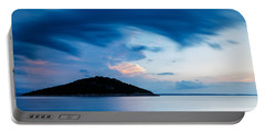 Storm Moving In Over Veli Osir Island At Sunrise Portable Battery Charger